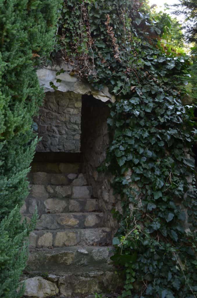 Prehod iz vinograda na teraso
